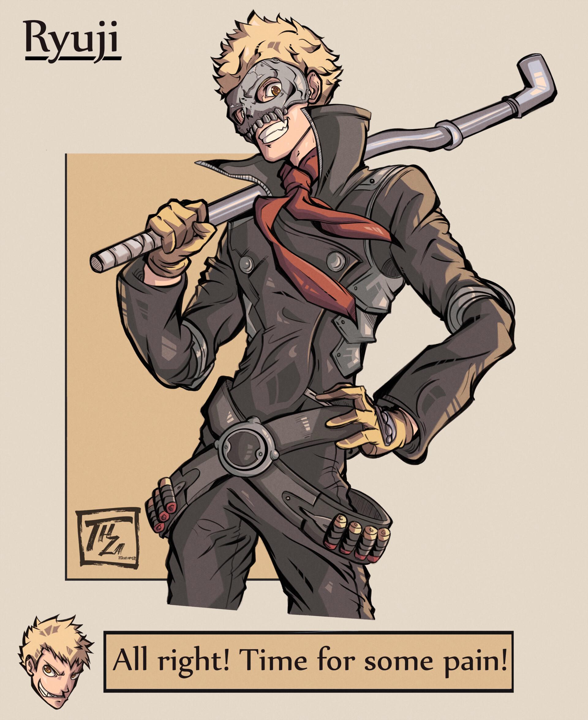 Hamza Touijri Ryuji Character Art