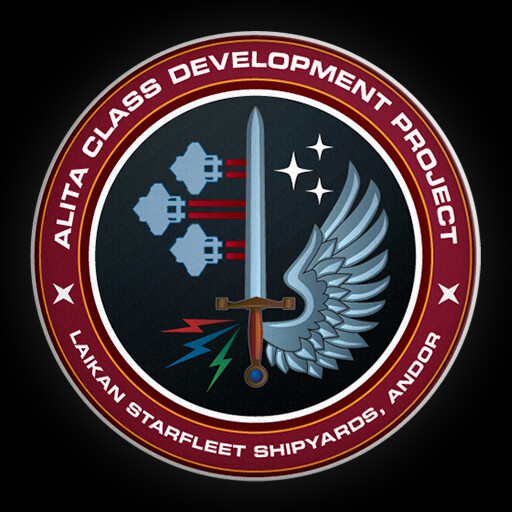 """The """"mission patch"""" for this ship, created in Adobe Illustrator"""
