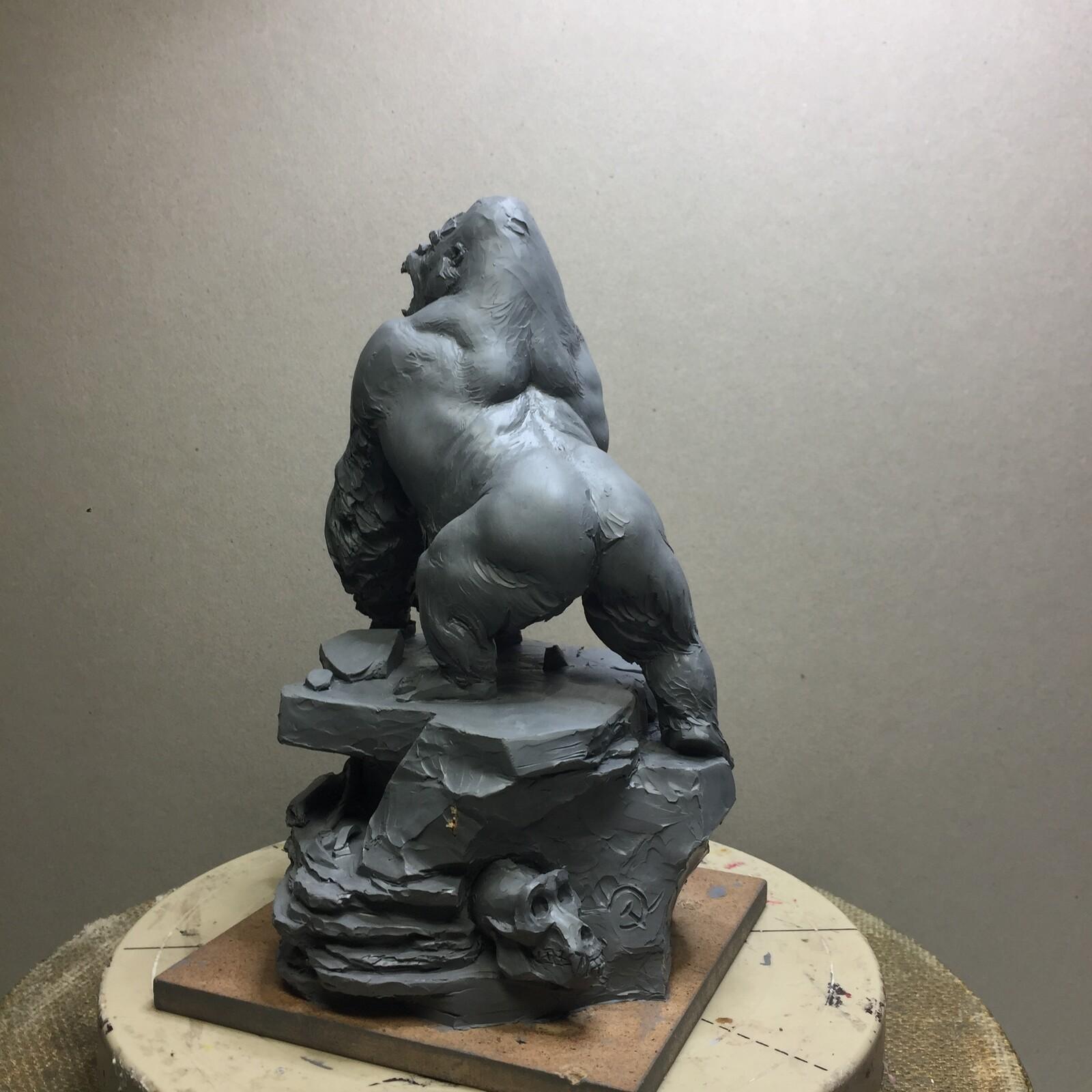 Gorilla plasticine quick sketch