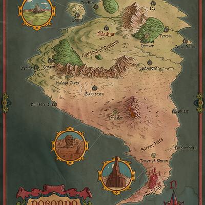 Robert altbauer dorondo fantasy map