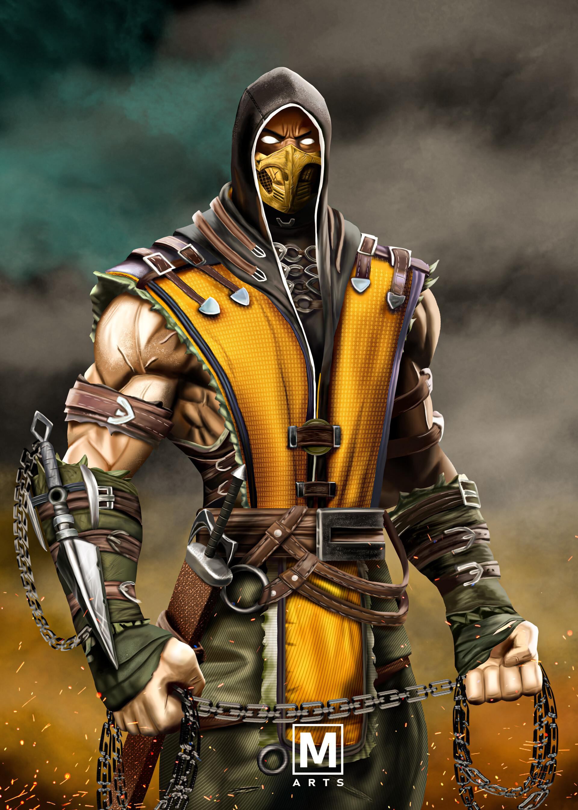 Artstation Scorpion From Mortal Kombat Mehul Rathod