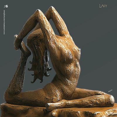 Surajit sen lady digital sculpture surajitsen sept2019