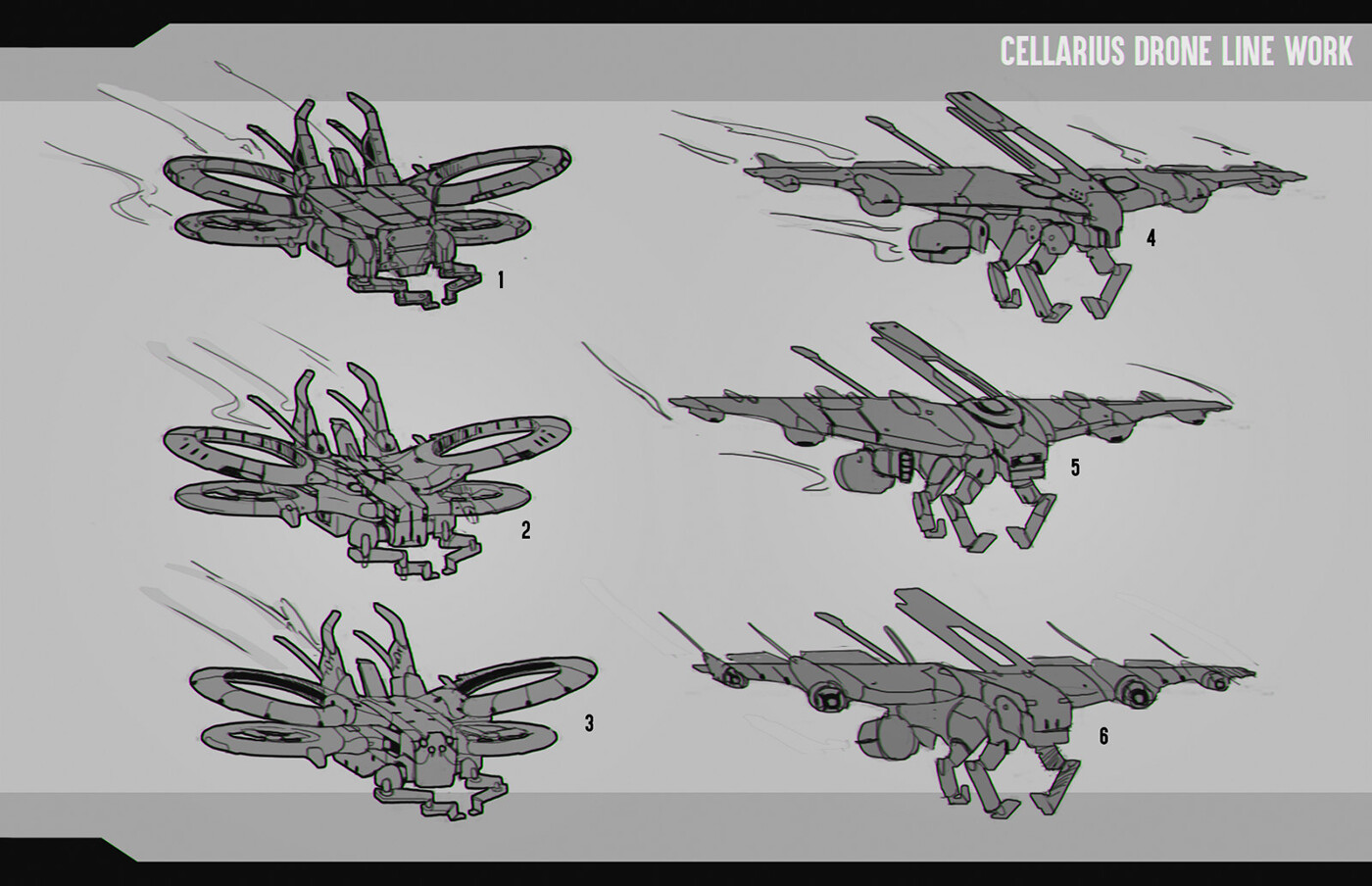 Sketch phase, working with ideas and parts to break down. They wanted to have two separate drones for different functions