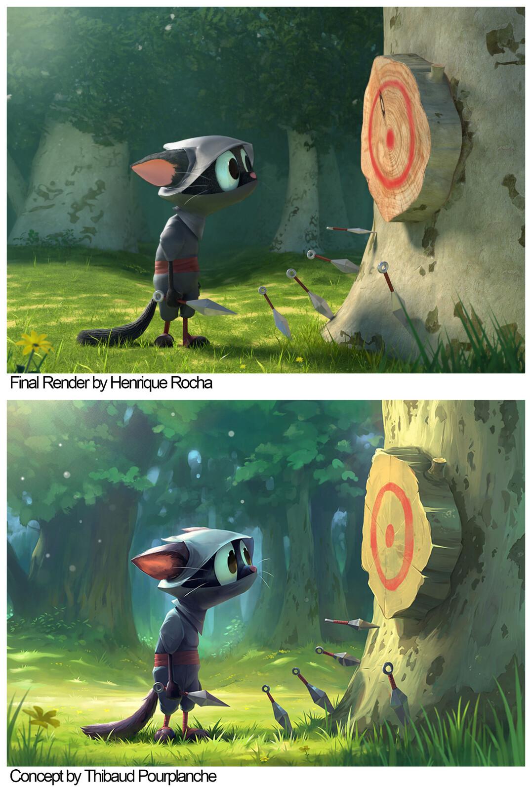 Final render vs Concept