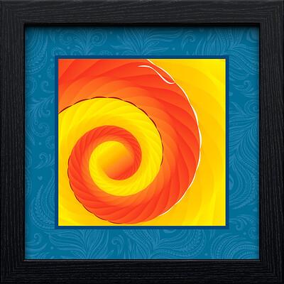 Rajesh r sawant black square frame ganpati peacock frame