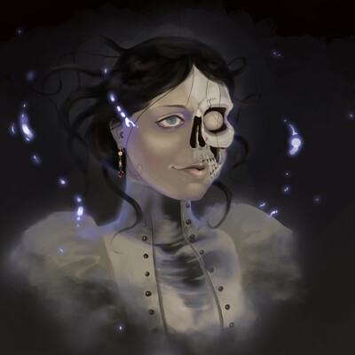 Krista talvipuro spooky painting 08