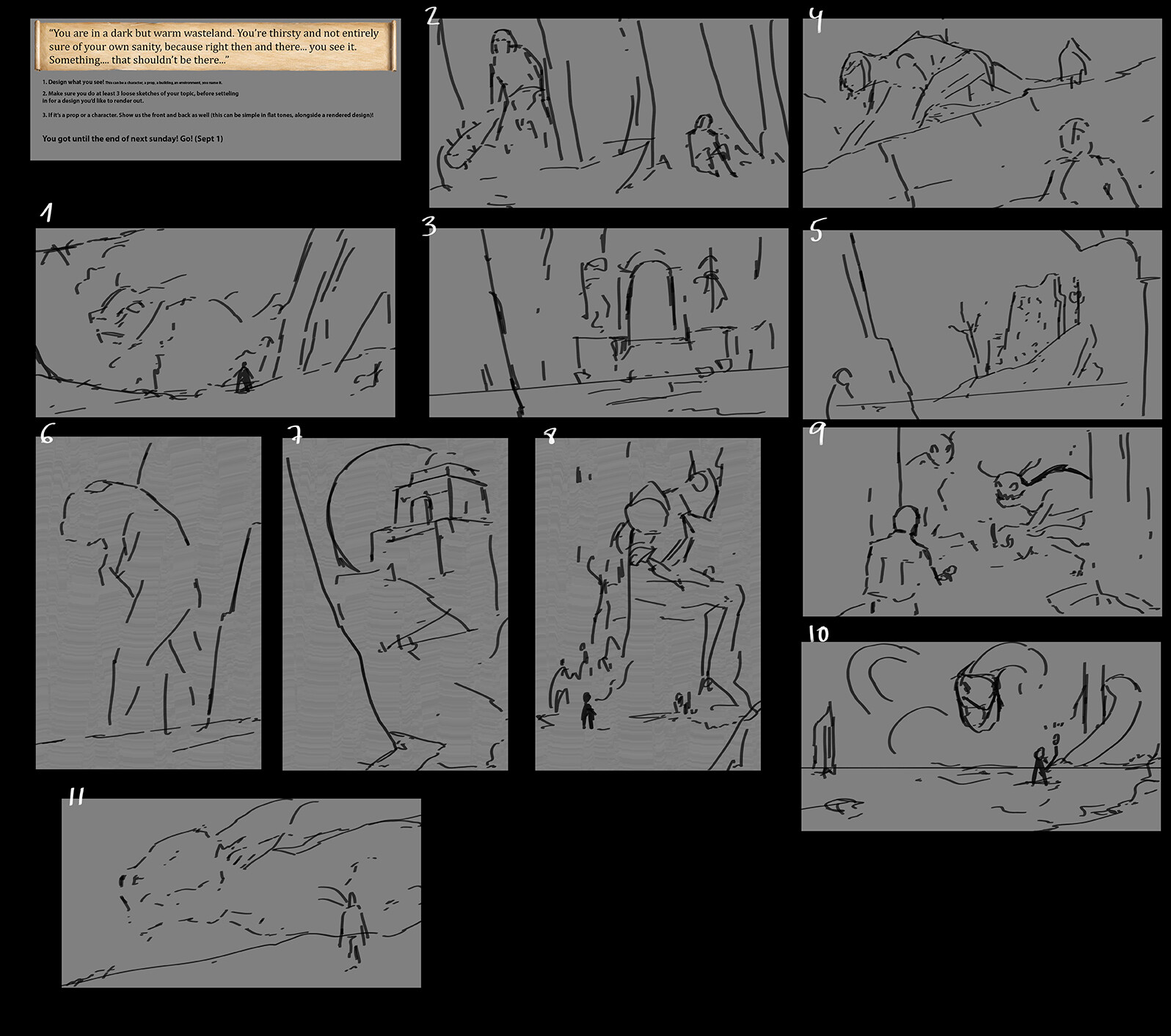 Briefing and Thumbnails