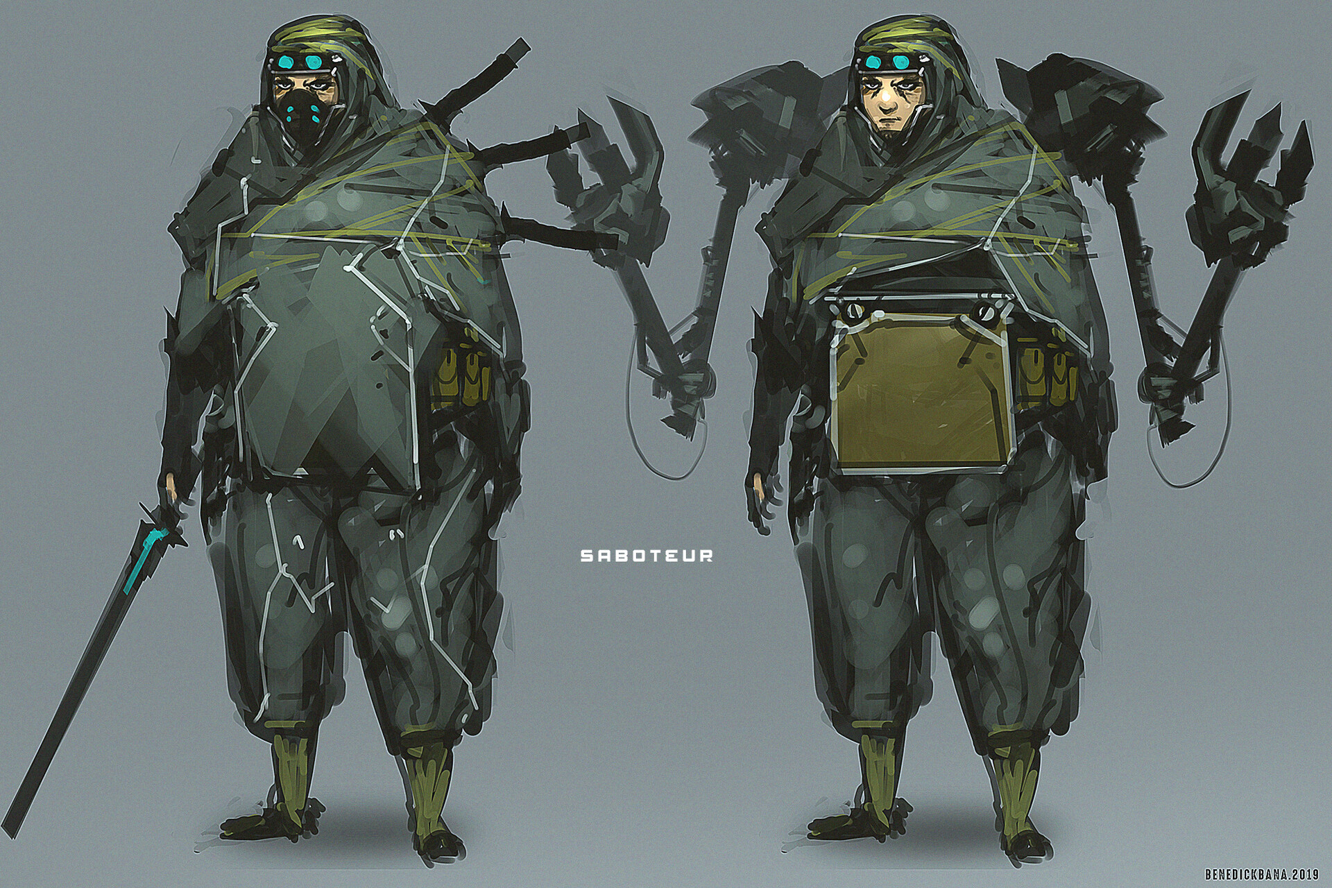 Saboteur character design - soldier unit
