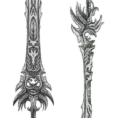 Francisco matos sketch swords by wolfnoom d6ep253 fullview