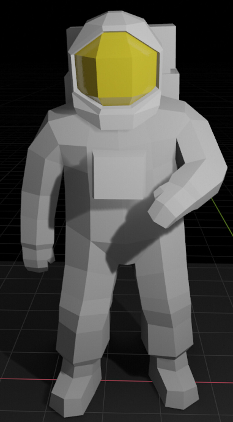 The low poly model