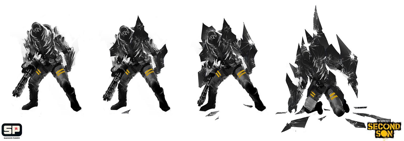 Glass knight taking damage
