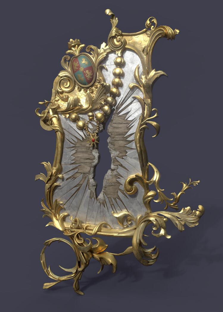 Ornate Rococo Mirror