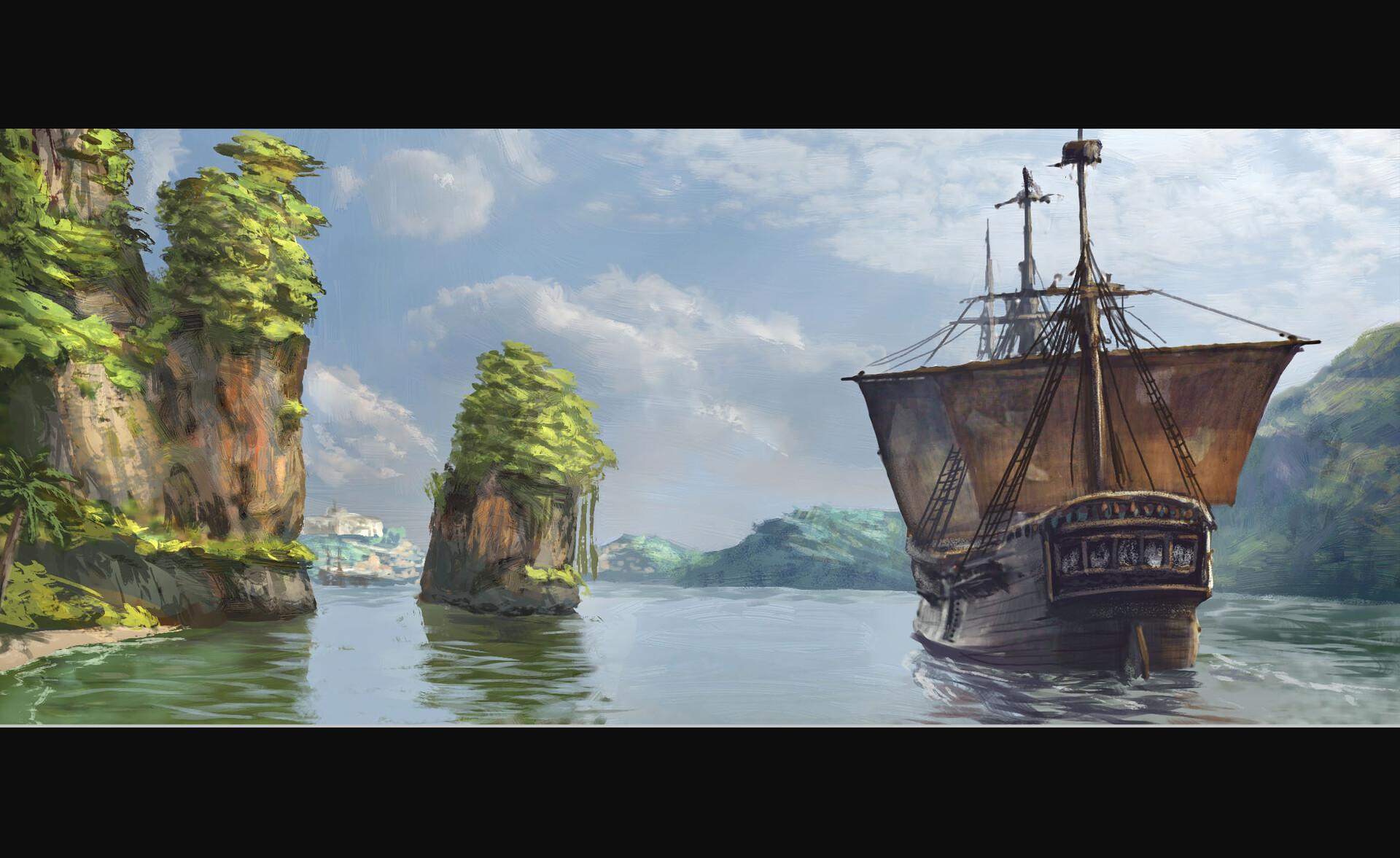 Merchant Ship Almost Home // Brushwork / Technique / Keyframe  (90-120 min)