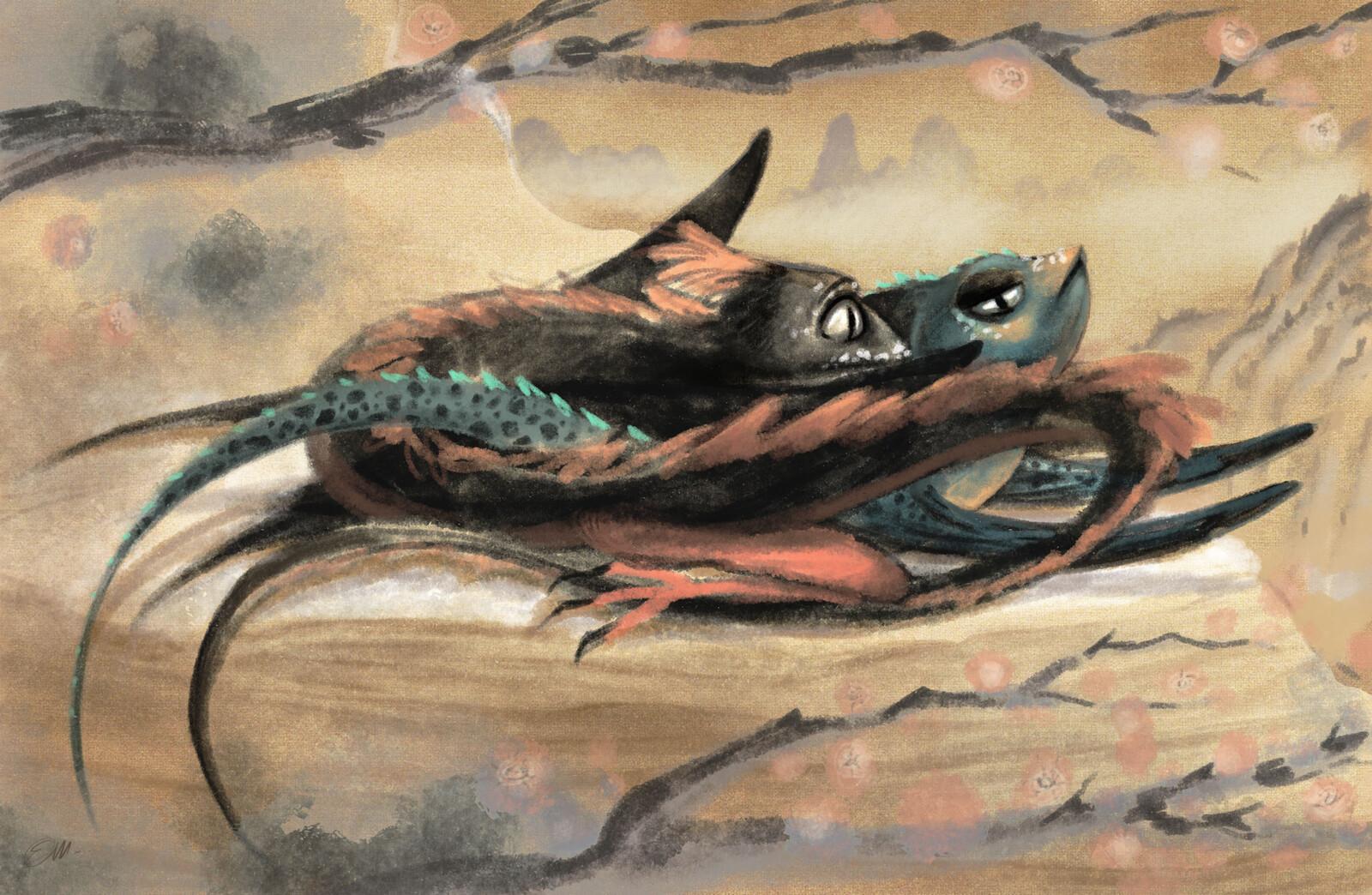 Fantastic creatures sketches - Dragons
