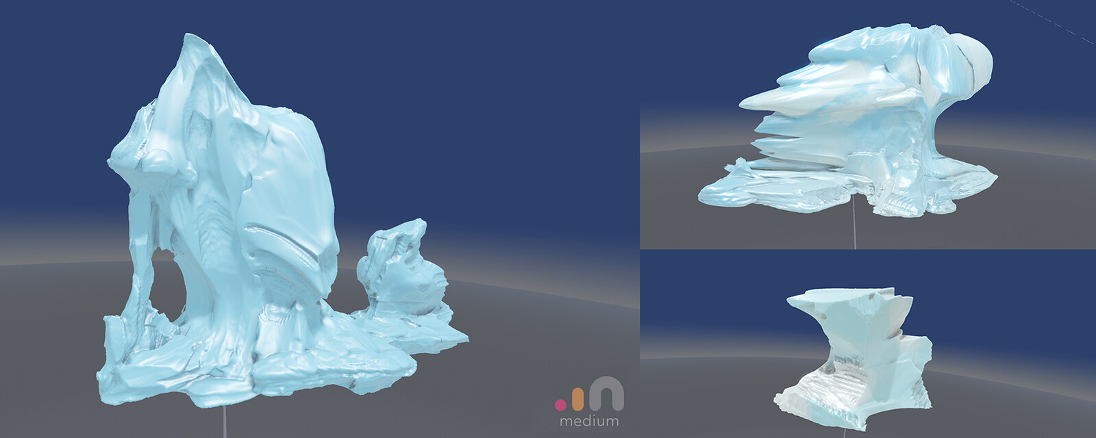 oculus  medium base sculpts used for ice zone