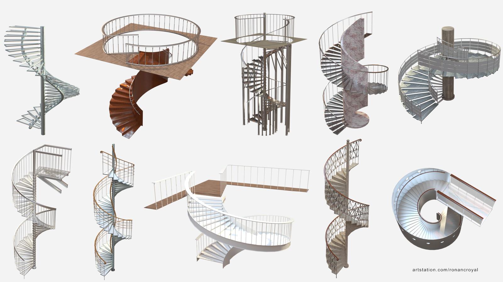 Procedural Spiral Staircase Asset