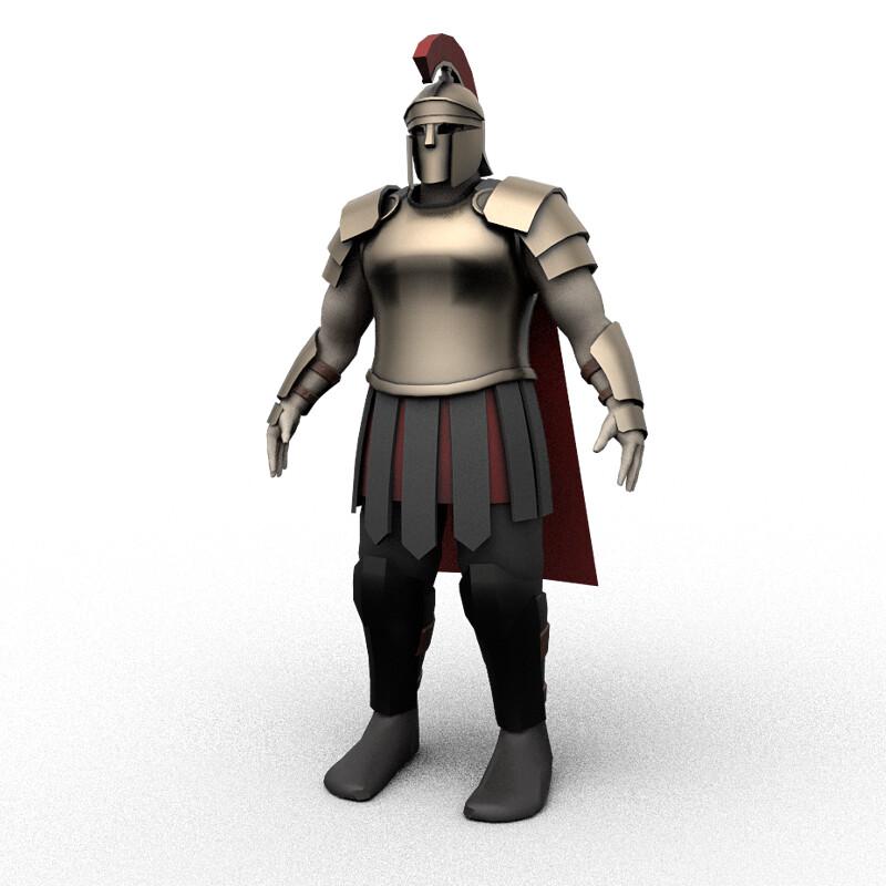 Low Poly Stylized Centurion