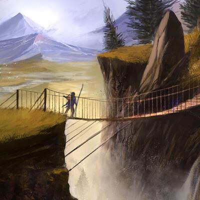 Caio santos rope bridge 2