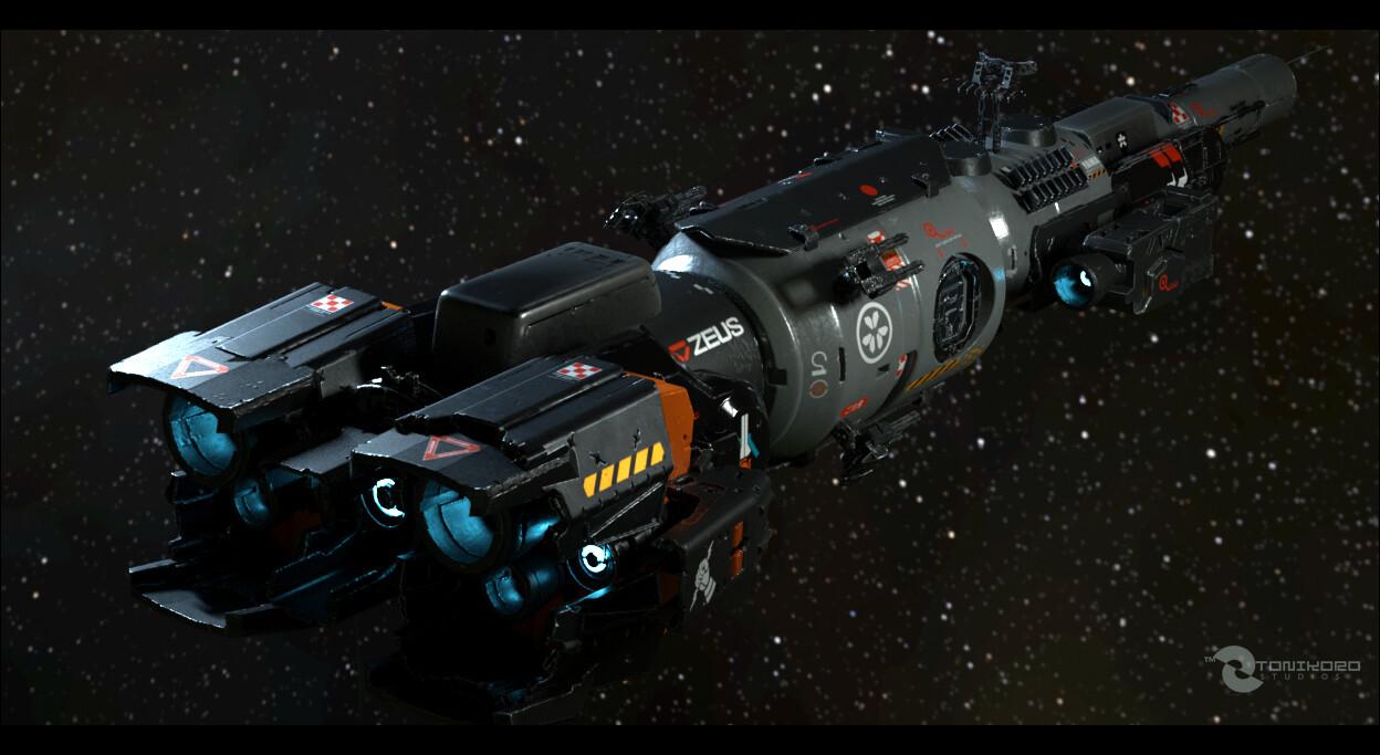 "Titan Corps - GunShip TDF-NC104 ""Hoshi no Maru"". *Octane Renderer"