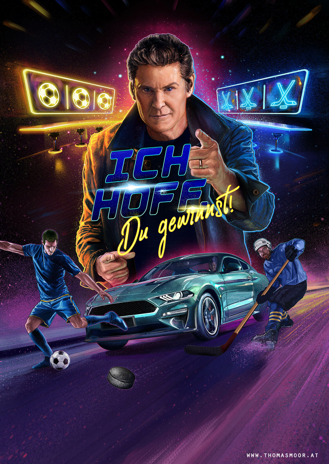 this is the version the client went for, with a slightly younger Hoff