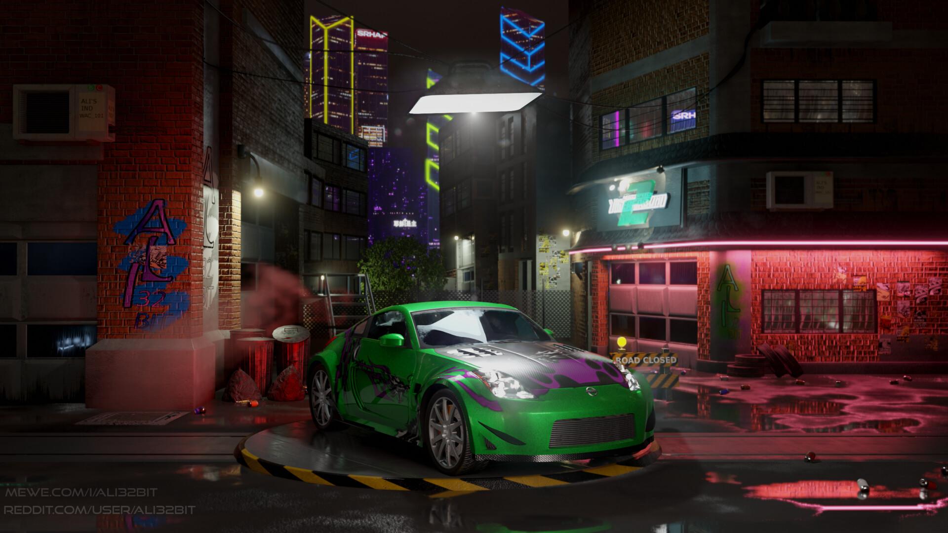 Artstation Need For Speed Underground 2 Menu Scene Remasterd In
