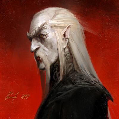 Dracula Portrait - Book illustration