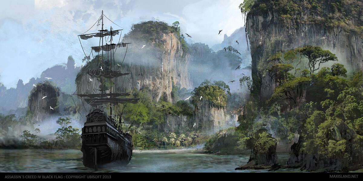 Swan Island Concept Art Photoshop (2012-2013)
