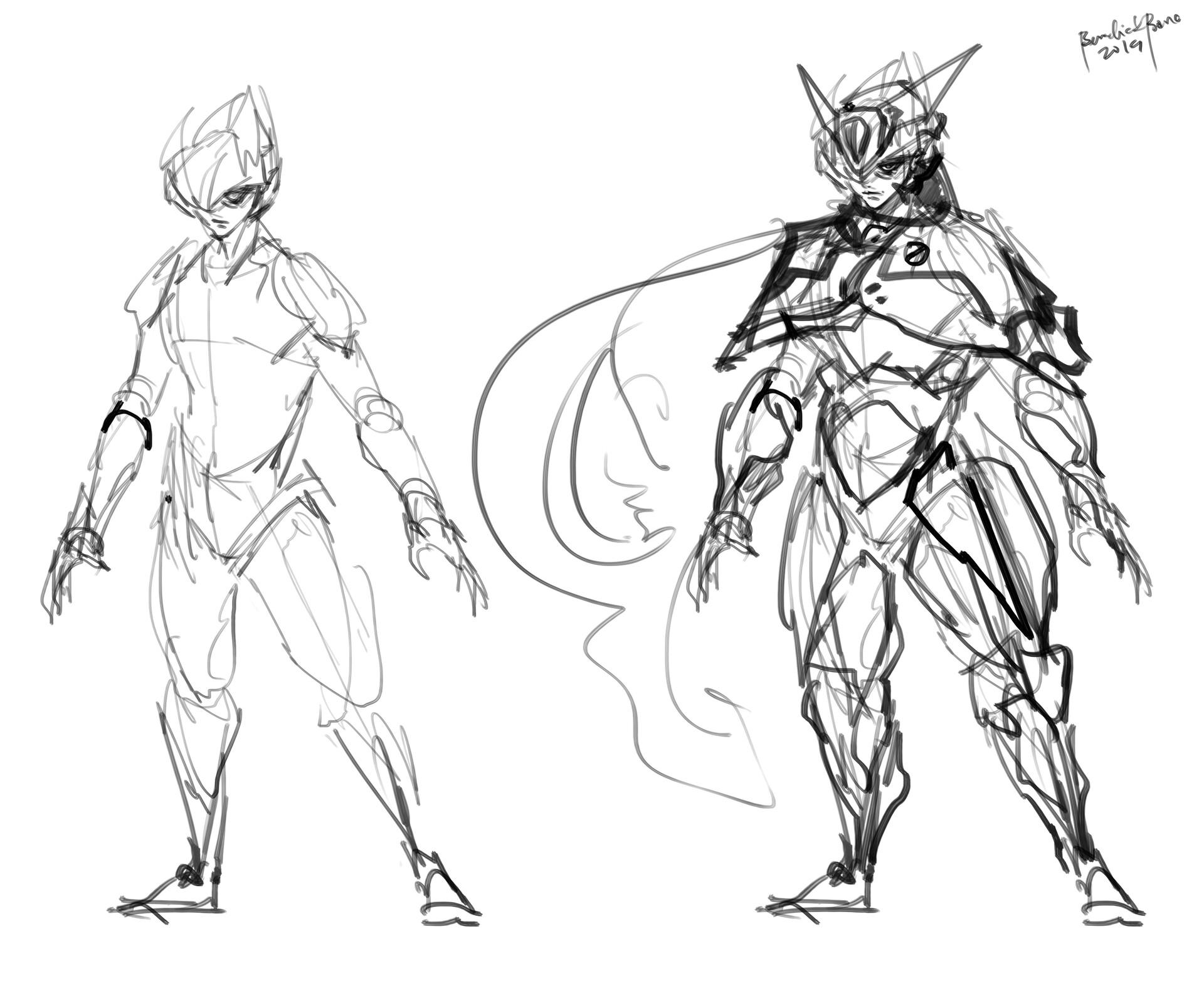 Quick Sketch character design BLOODLUST