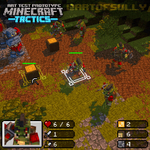 'Minecraft Tactics' (Mojang Art Test)