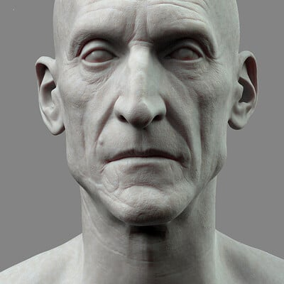Old man sculpt WIP 1