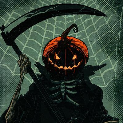 David hartman pumpkin webs by hartman by sideshowmonkey dbsbf05