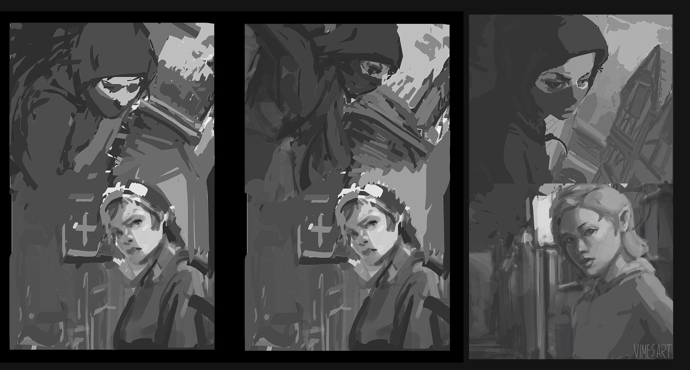 initial sketches variation
