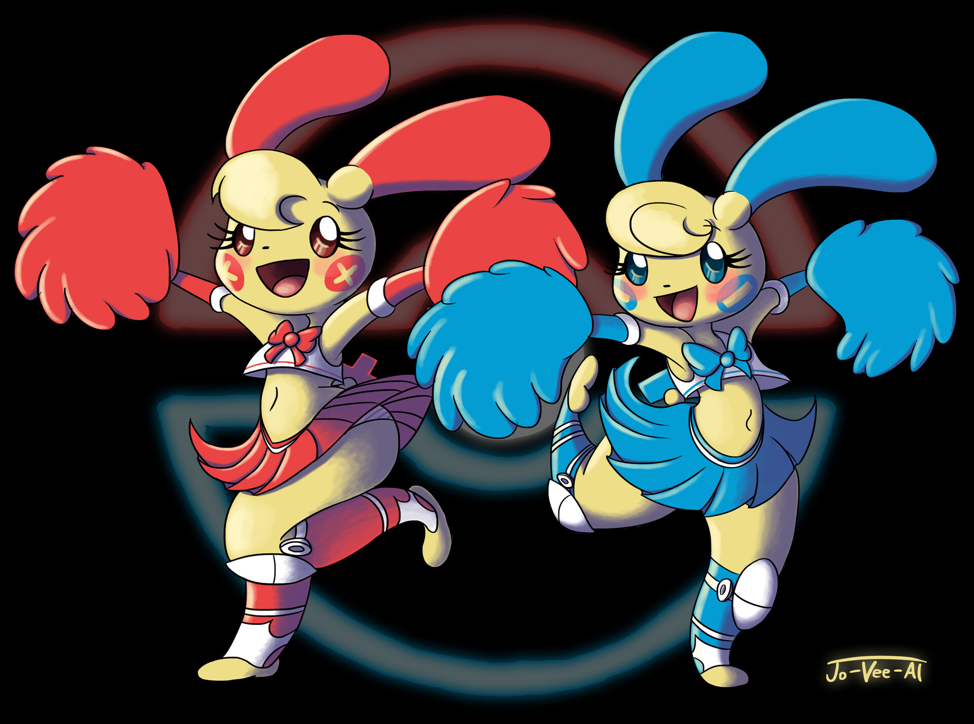 Jovial Agito Plusle And Minun
