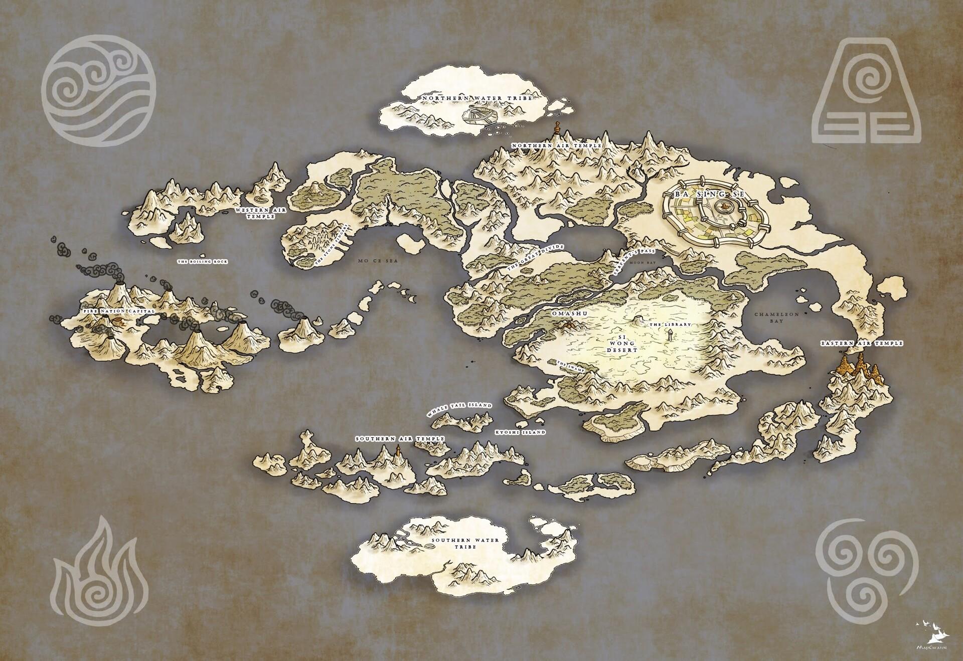 James Nalepa - Avatar the Last Airbender World Map