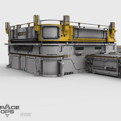 Buildings and props for Space ops game