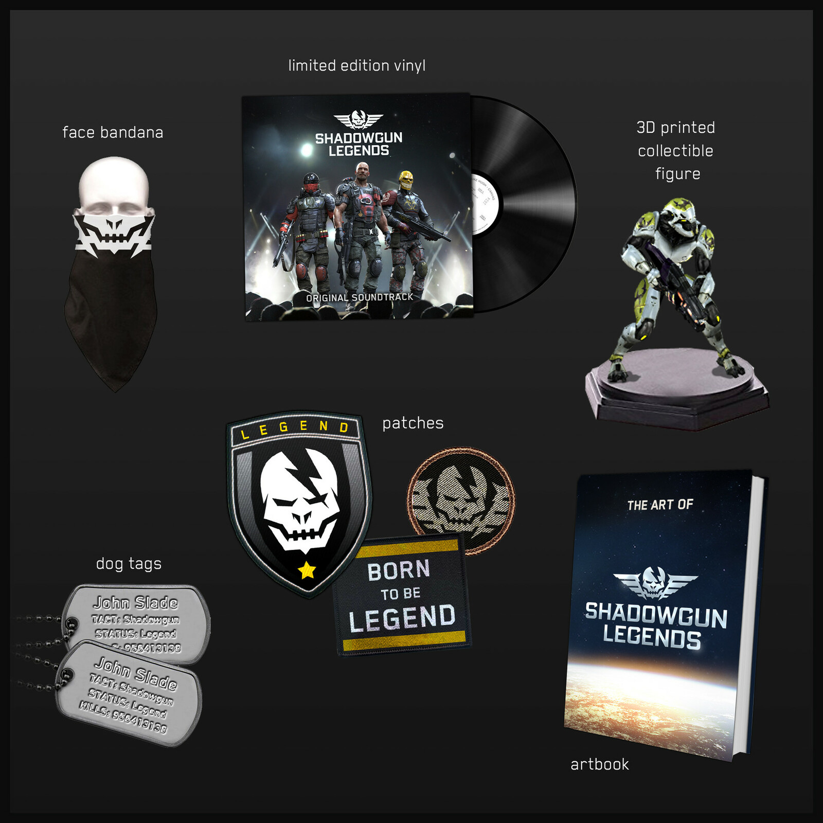 Various merchandise ideas.
