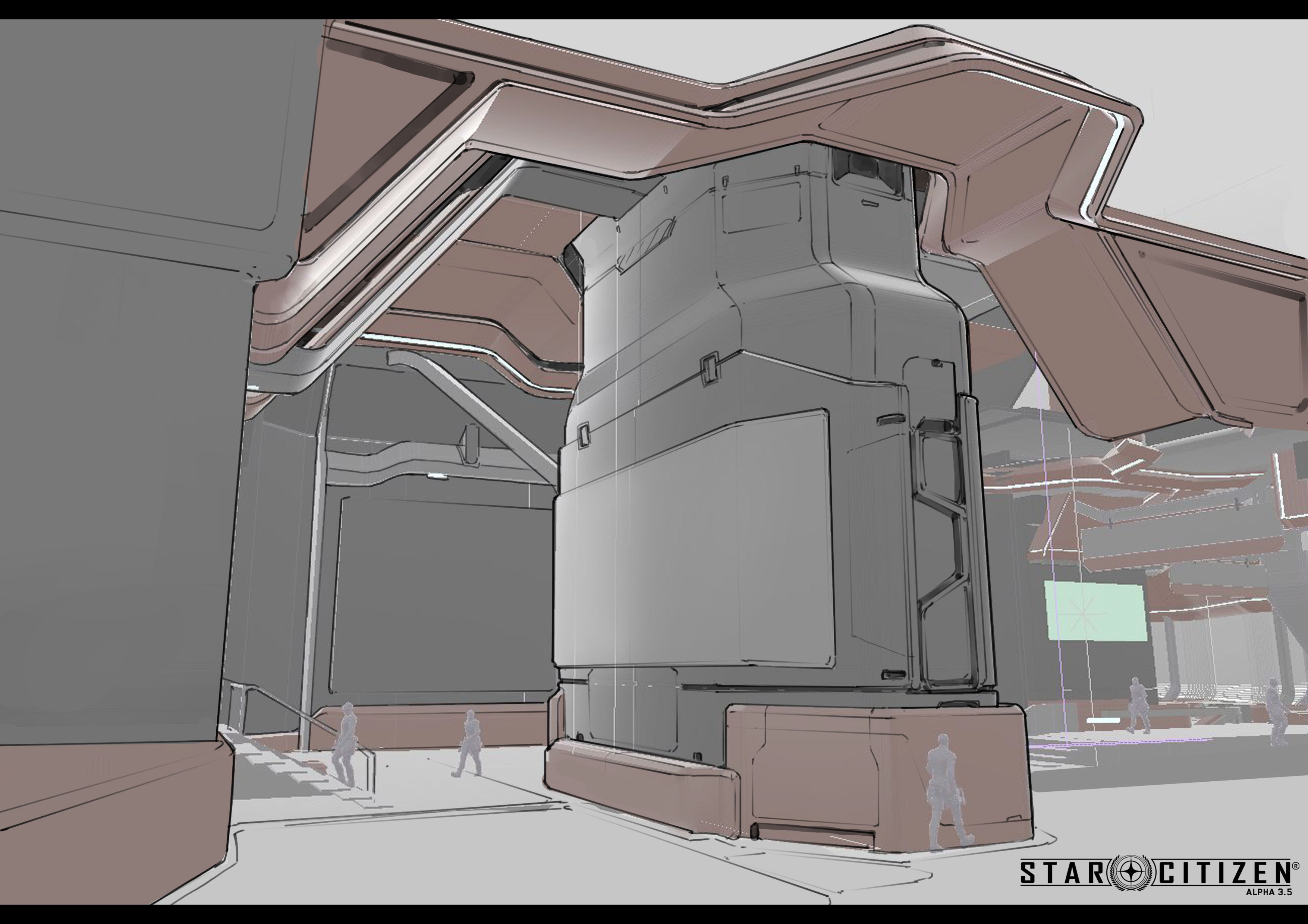 space port interior call out