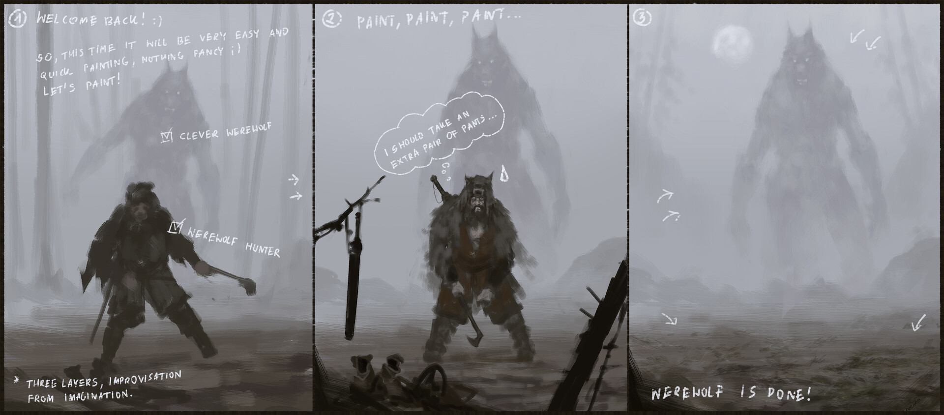 Jakub rozalski something in the mist process00