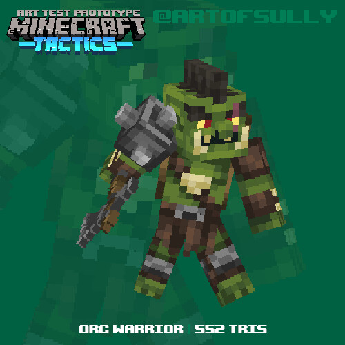 Orc Warrior (Mojang Art Test)