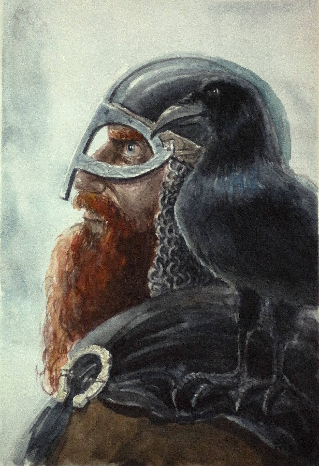 Red beard viking