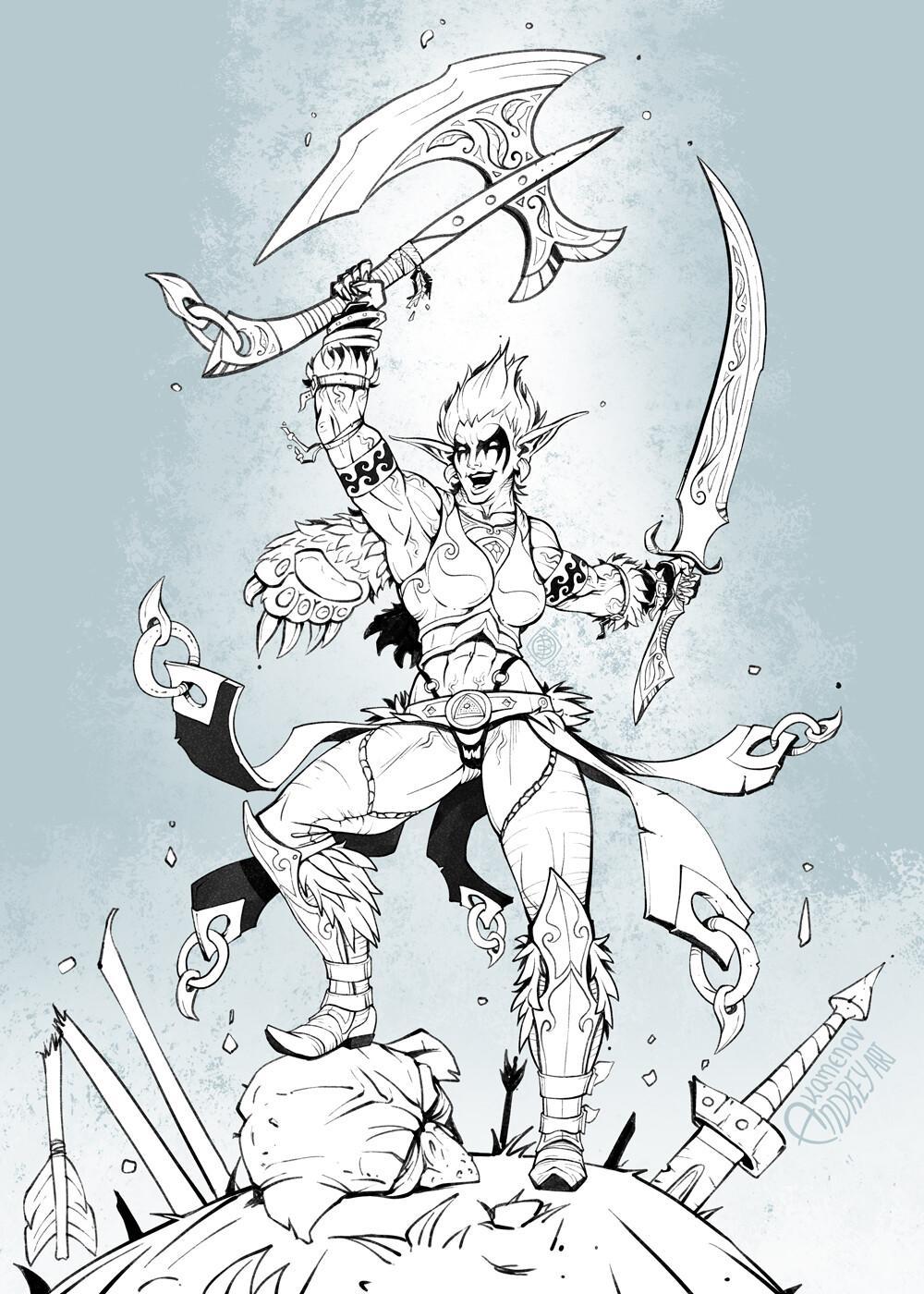 Andrey kamenov elf barbarian 05