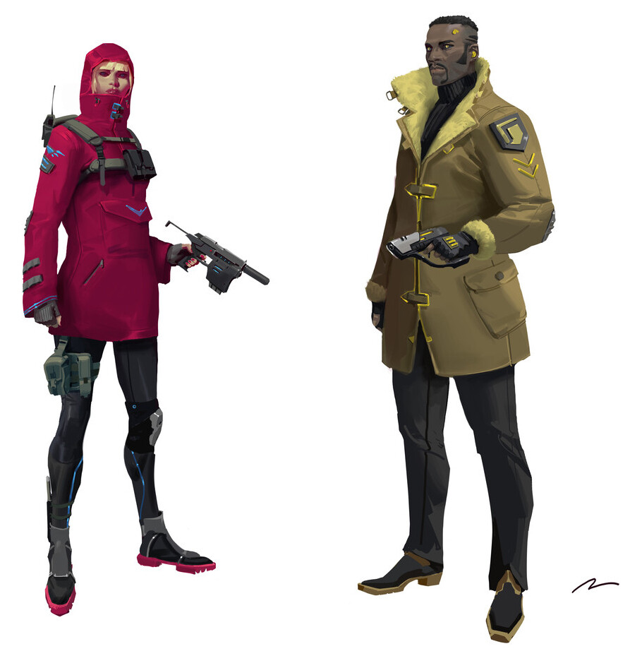 (Mauro Belfiore Concept) I plan to model this team , hi's and low poly models including guns!