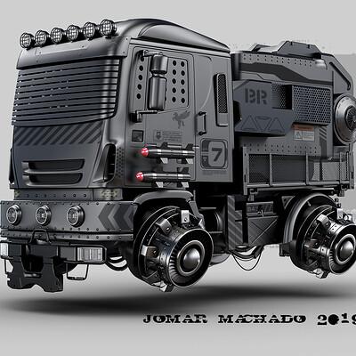 Jomar machado 214 black truck