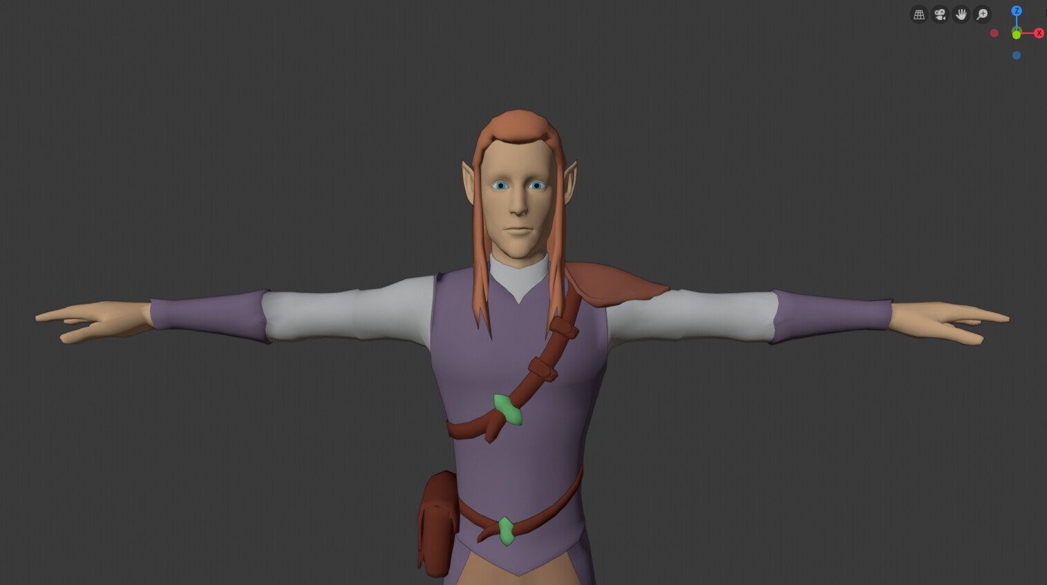Elf low-poly model
