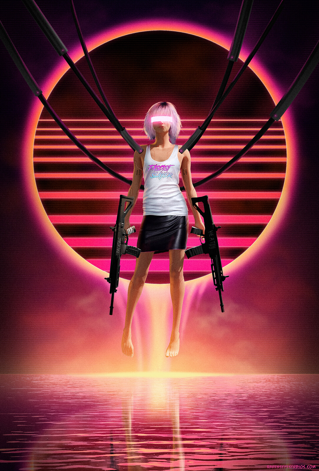 Cyberpunk retro synthwave slayer