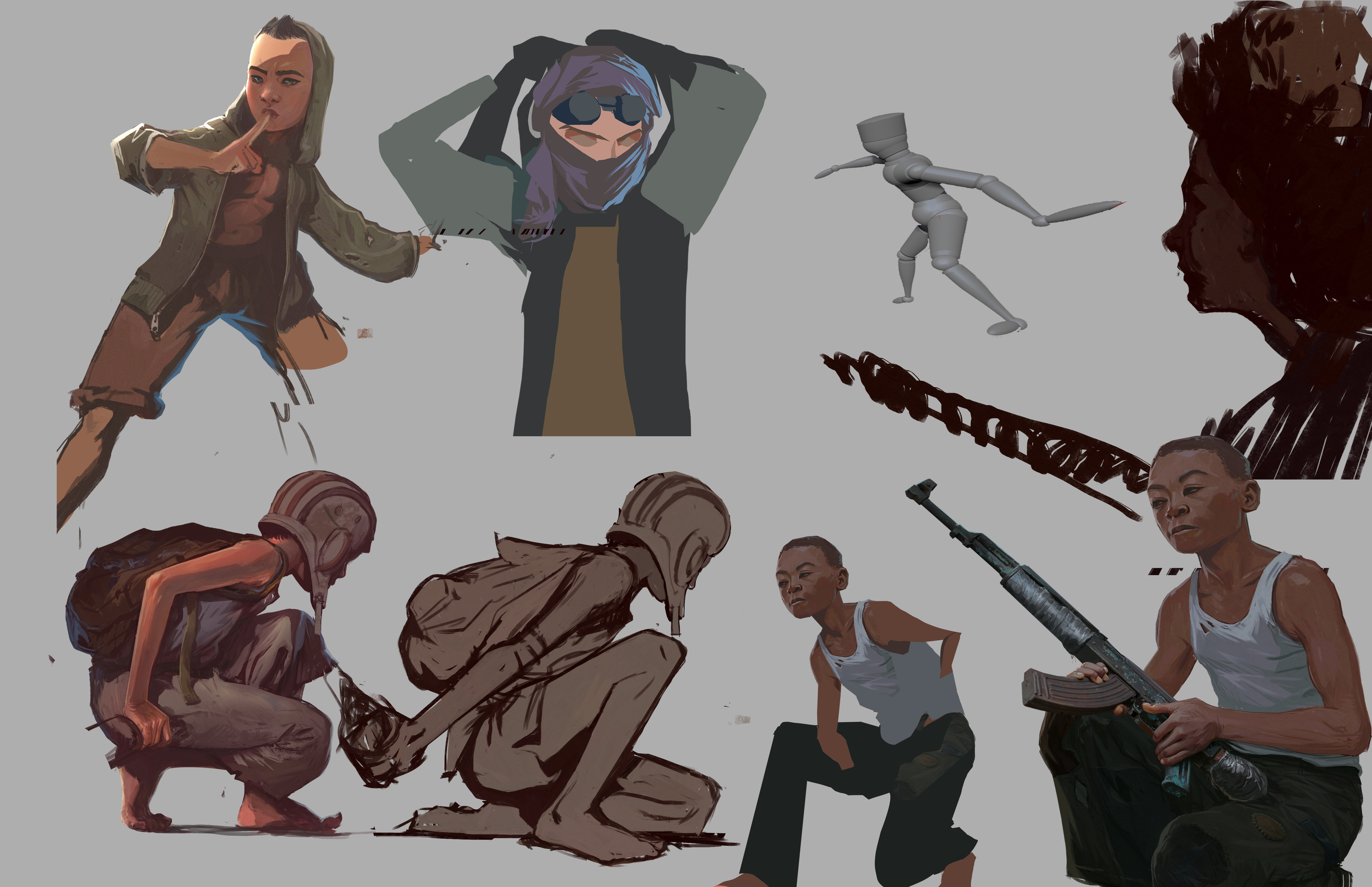 some character process work