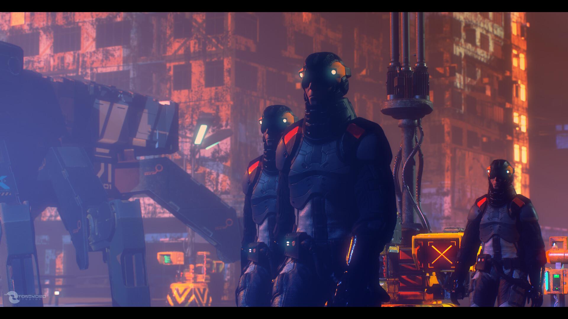 """Titan Troop with Hannya KB-2 """"Crabtank"""" - Ganymede City Patrol"""