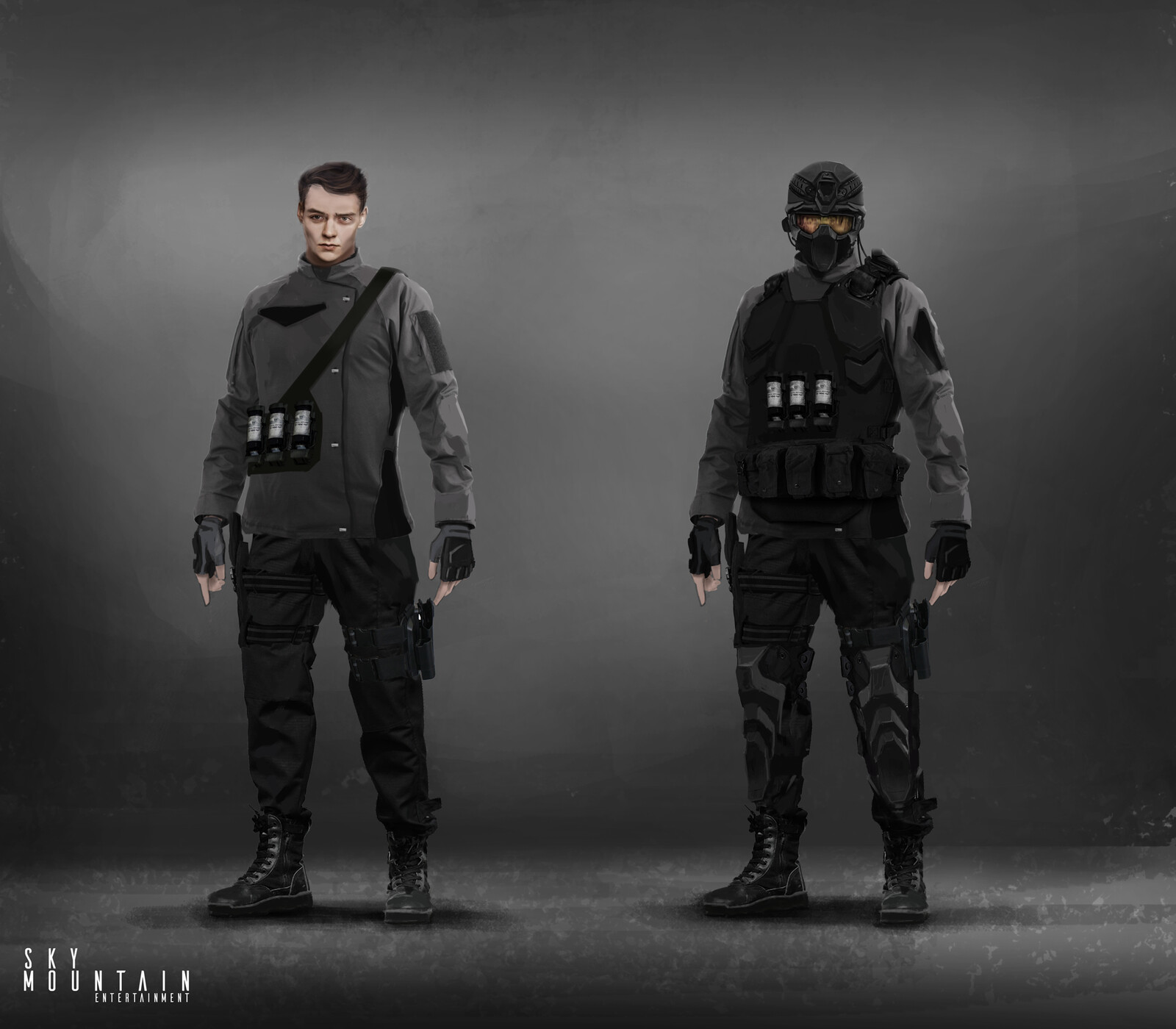 Guards and Rebels - Guards Character Concept Art