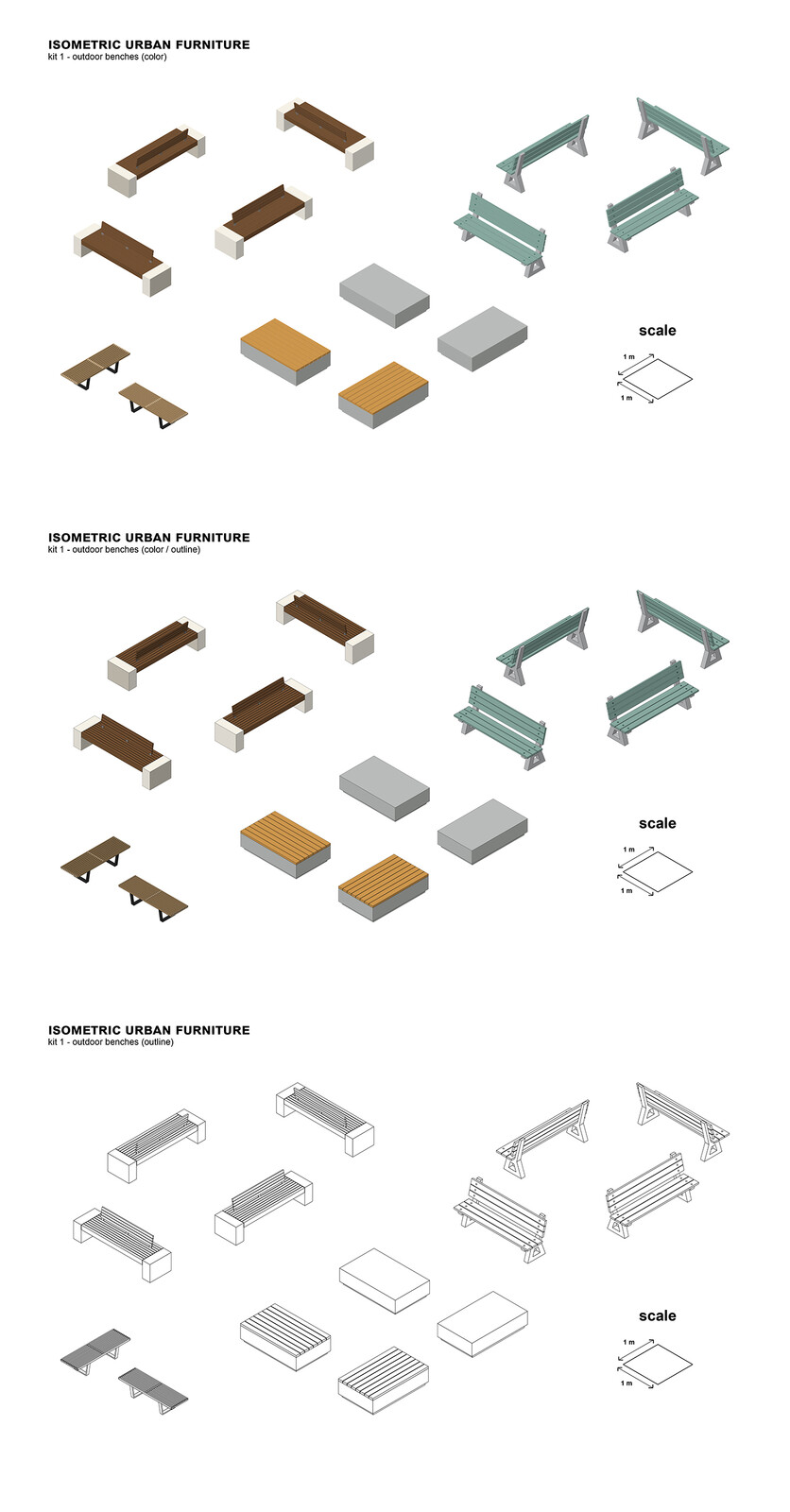 kit 1 - outdoor benches
