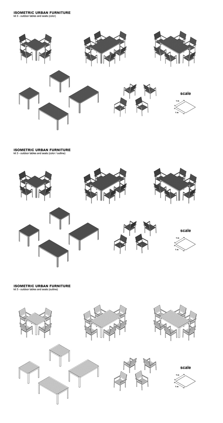 kit 3 - outdoor tables and seats